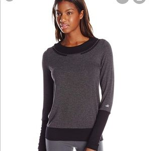 ALO Yoga 🧘‍♀️ grey/black sweatshirt